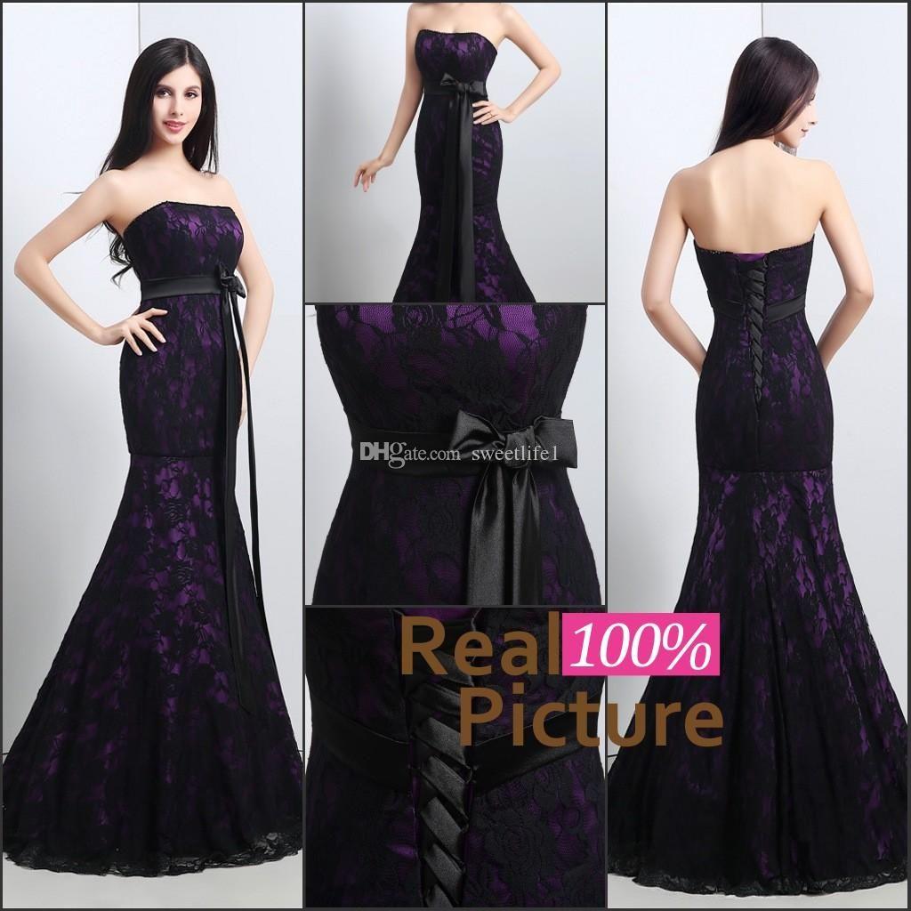 Ful Mermaid Wedding Gowns Black And Purple Lace Wedding Dress Wedding Gowns Mermaid Strapless Lace Wedding Dress Wedding Dresses Uk [ 1024 x 1024 Pixel ]