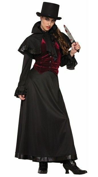 Jackie the Ripper Best Female Halloween Costumes Pinterest - black skirt halloween costume ideas