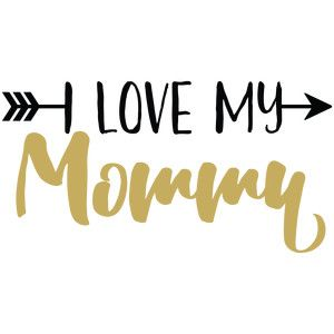 Silhouette Design Store - View Design #168136: baby t-shirt: i love my mommy