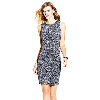 Sleeveless Sea Snake Dress-Smart layering can take sexy snakeskin from the office to the club. A modest frame looks hot with a body-con stretch fit that makes the Sleeveless Sea Snake Dress by Vince Camuto so flattering. Wear it with a comfortable flat for work and change into strappy high heels.  <li> 95% Polyester, 5% Spandex