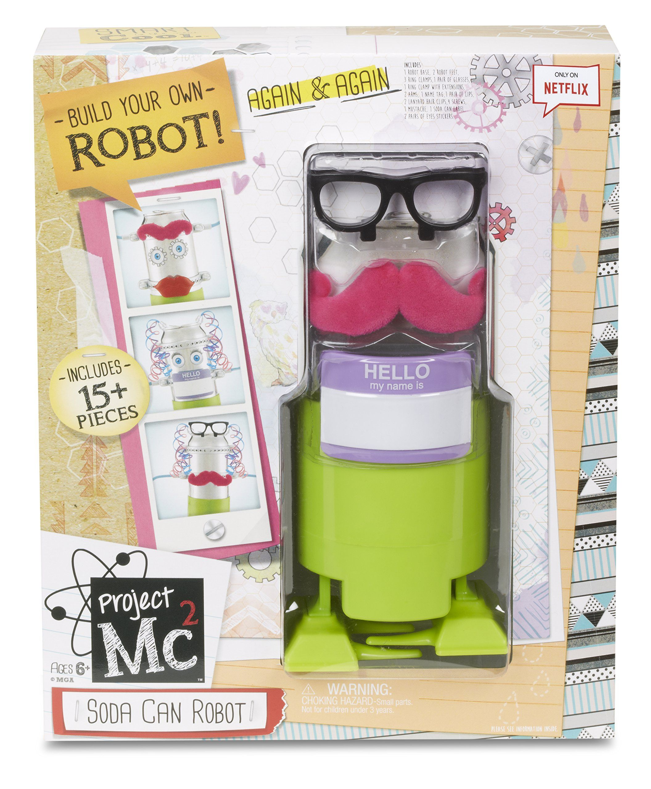 Amazon Project Mc2 Soda Can Robot Toys & Games $11 47 9 59