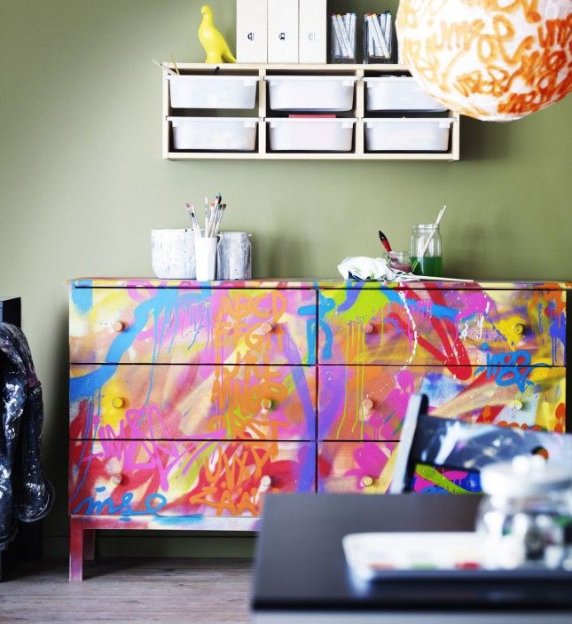 Merveilleux Colorful Painted Furniture. Images About Paint Dresser Pinterest Makeovers  And Painted Dressers Colorful Furniture M