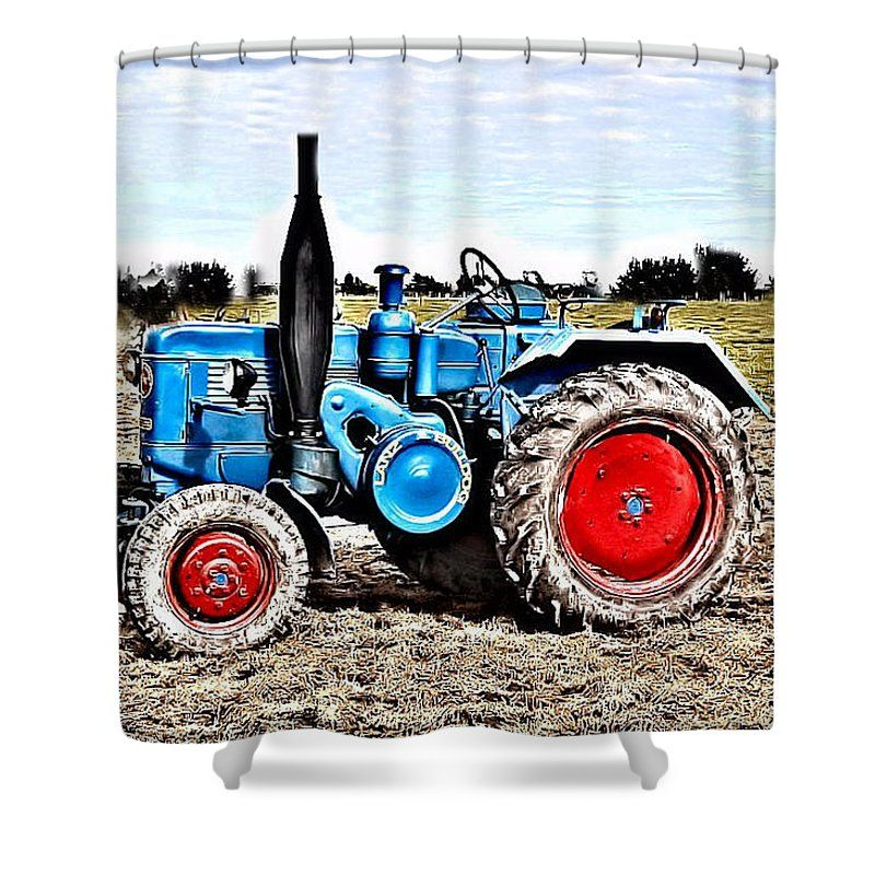 Lanz Bulldog Tractor Shower Curtain For Sale By Thomas Schmidt