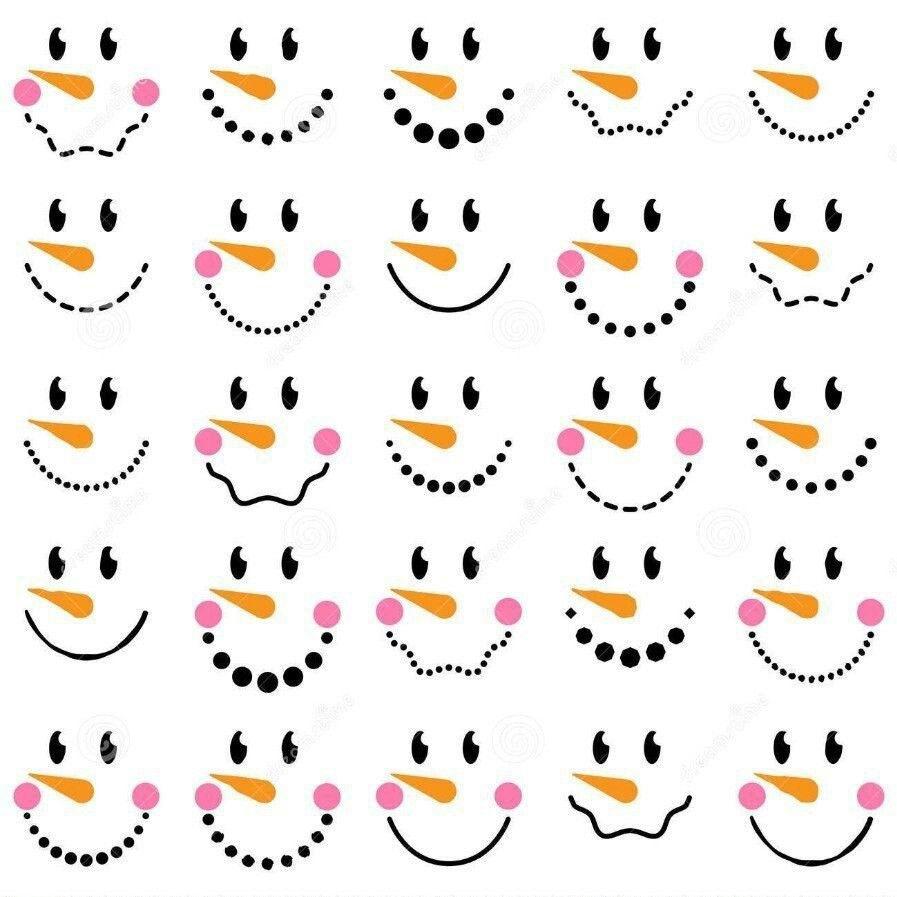 Pin By Marjorie On Art Ideas Printable Snowman Faces Snowman Faces Printable Snowman