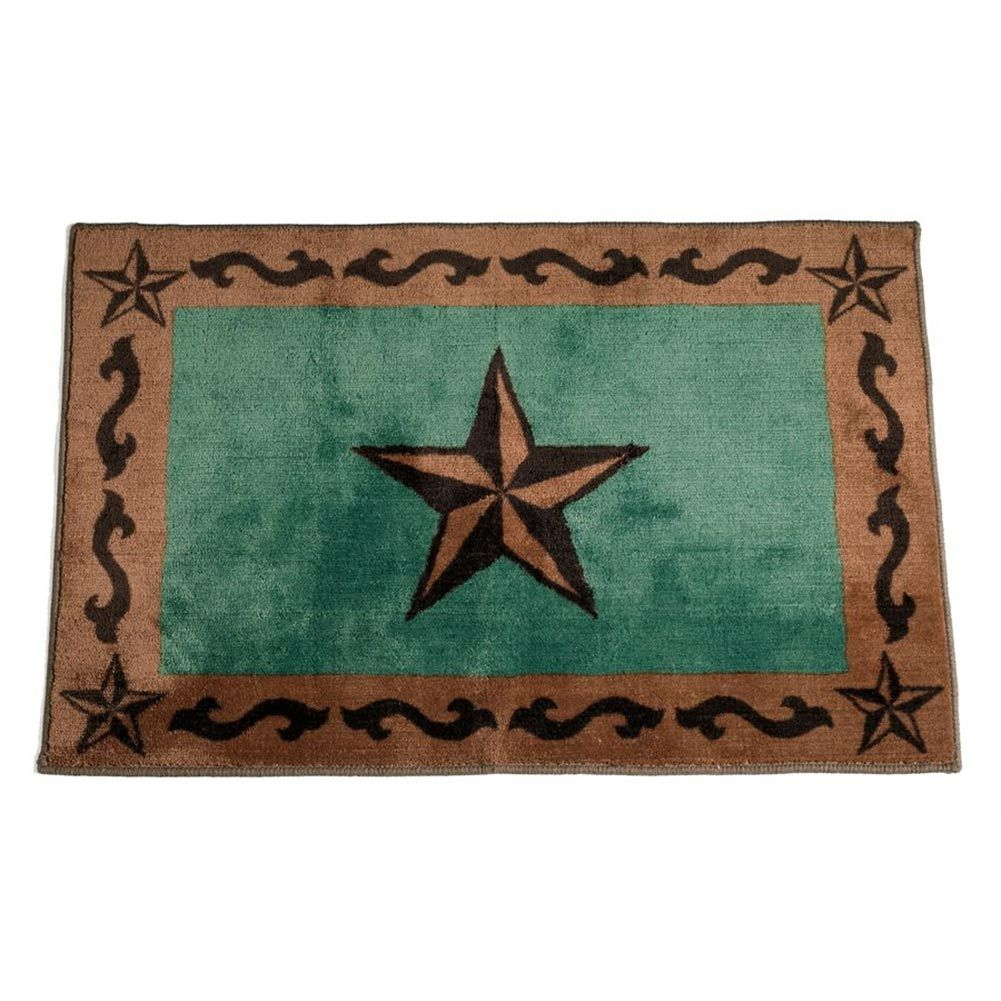 Check Out The Deal On Turquoise Western Star Bath Mat At Cabin Place