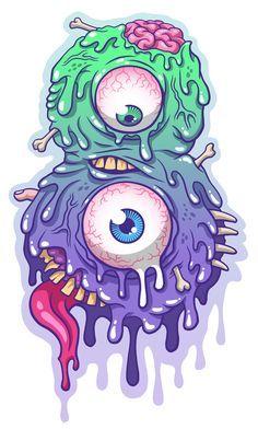 Flesh By Murat Ozkan Via Behance Gambar Gambar Lucu Pinterest Art Illustration And Graffiti