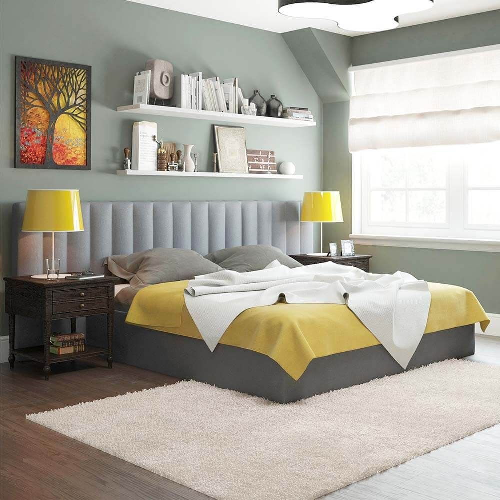 Details About Wide Headboard Upholstered King Queen Double Bedhead