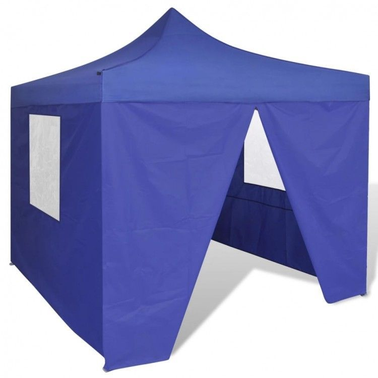Details About Blue Foldable Tent Party Sunshade 4 Walls Garden