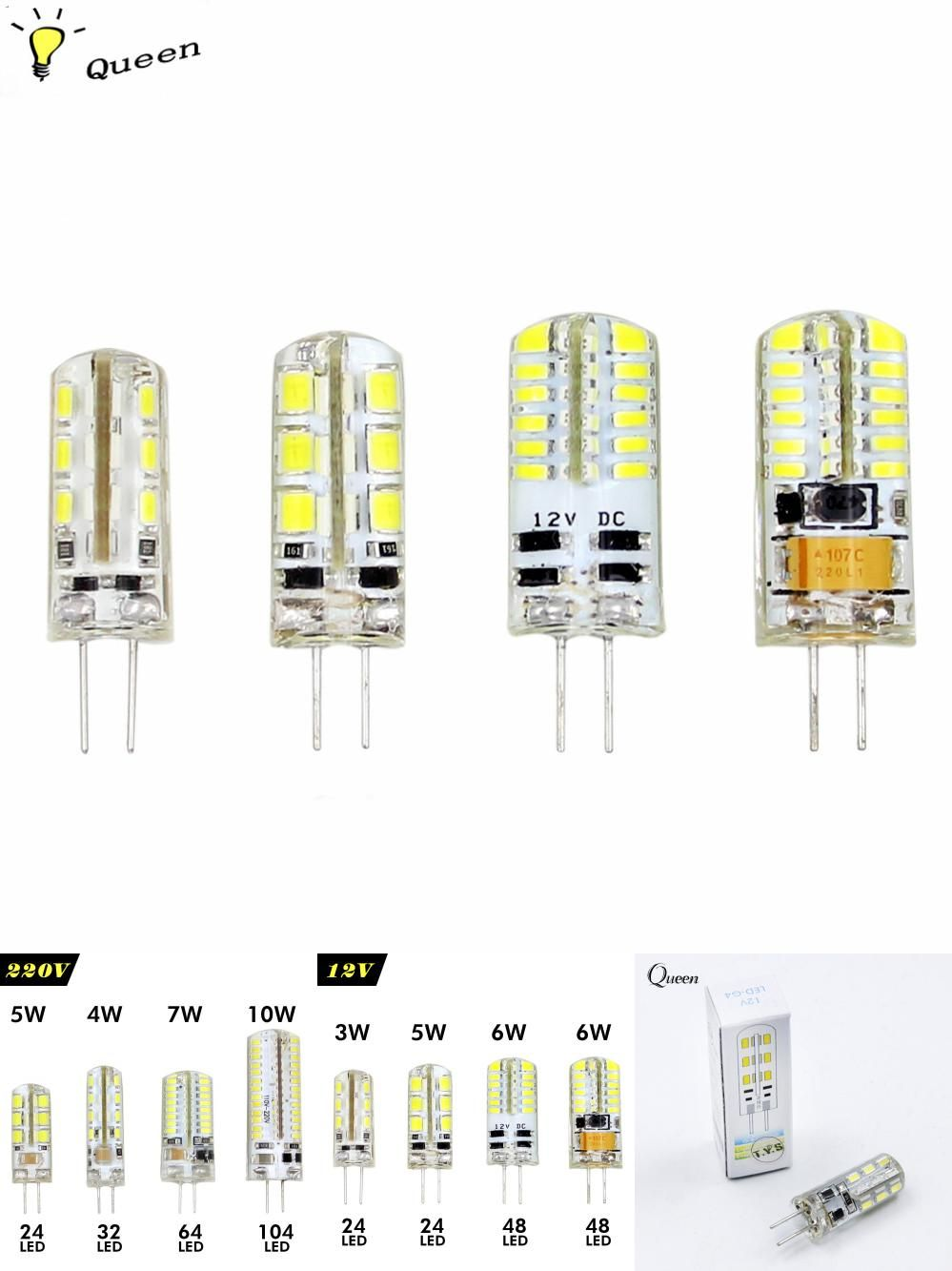 Visit To Buy Led Corn Light G4 Led Bulb 220v 3w 4w 5w 6w 7w 9w 10w Led Spot Light Dc 12v Ac Led Lamp Home Lighting Ampoule Chan With Images