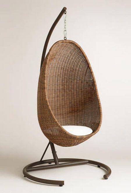 Hanging Egg Chair Or Swivel Standing Eggchair For Sunroom