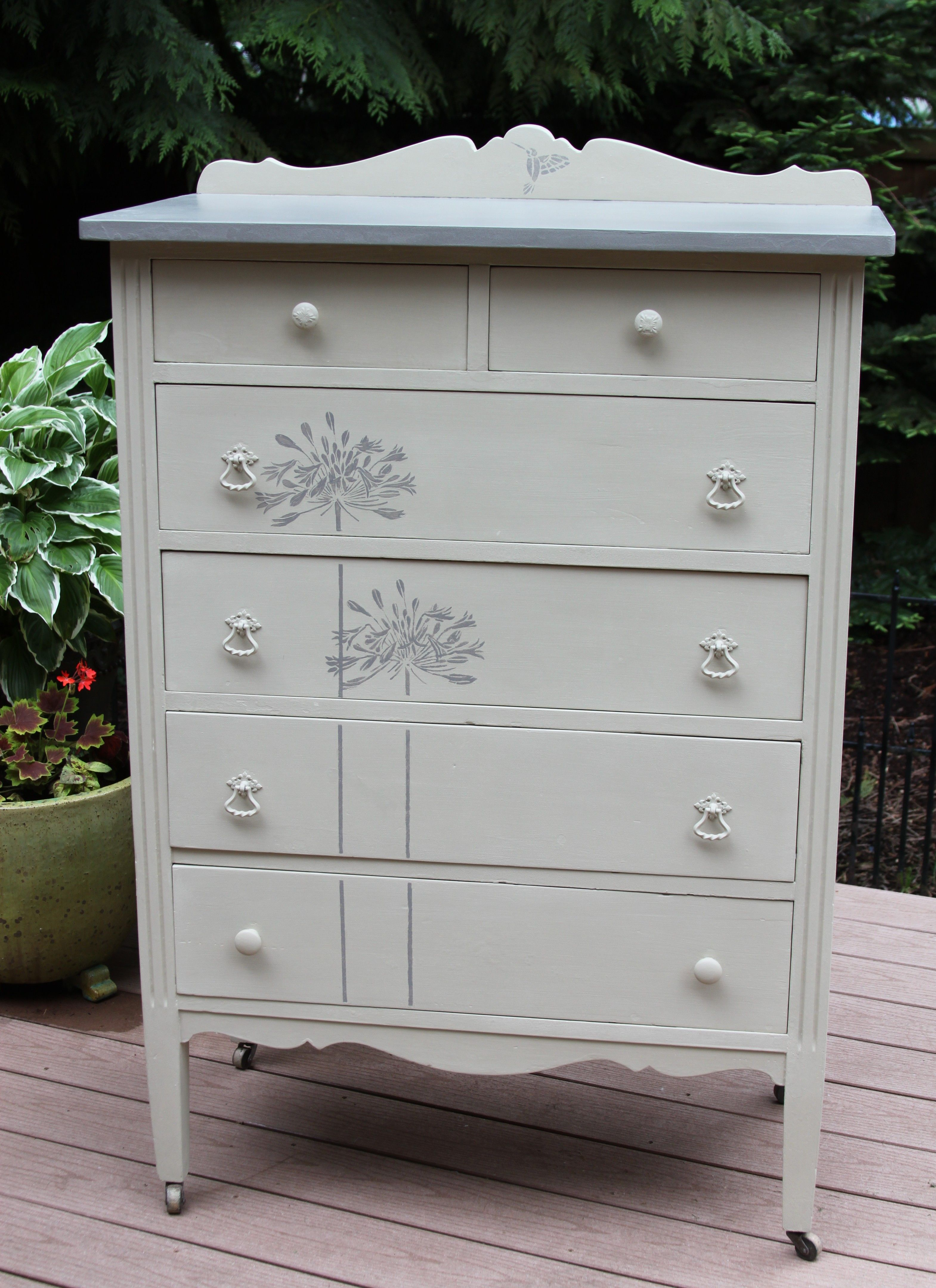 Best Vintage Highboy Dresser Painted By Farmhouse Couture 400 x 300