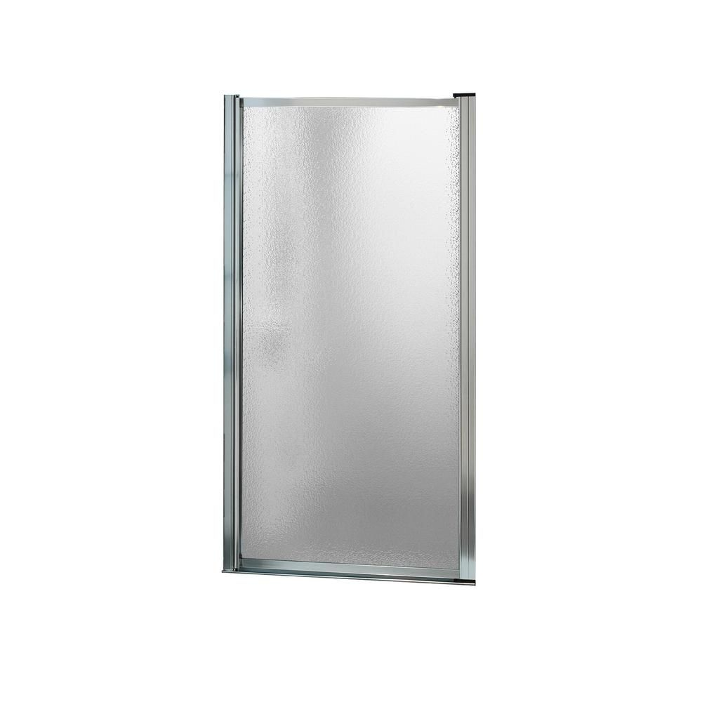 Aquatic Atwater 28 75 In X 64 5 In Framed Pivot Shower Door In