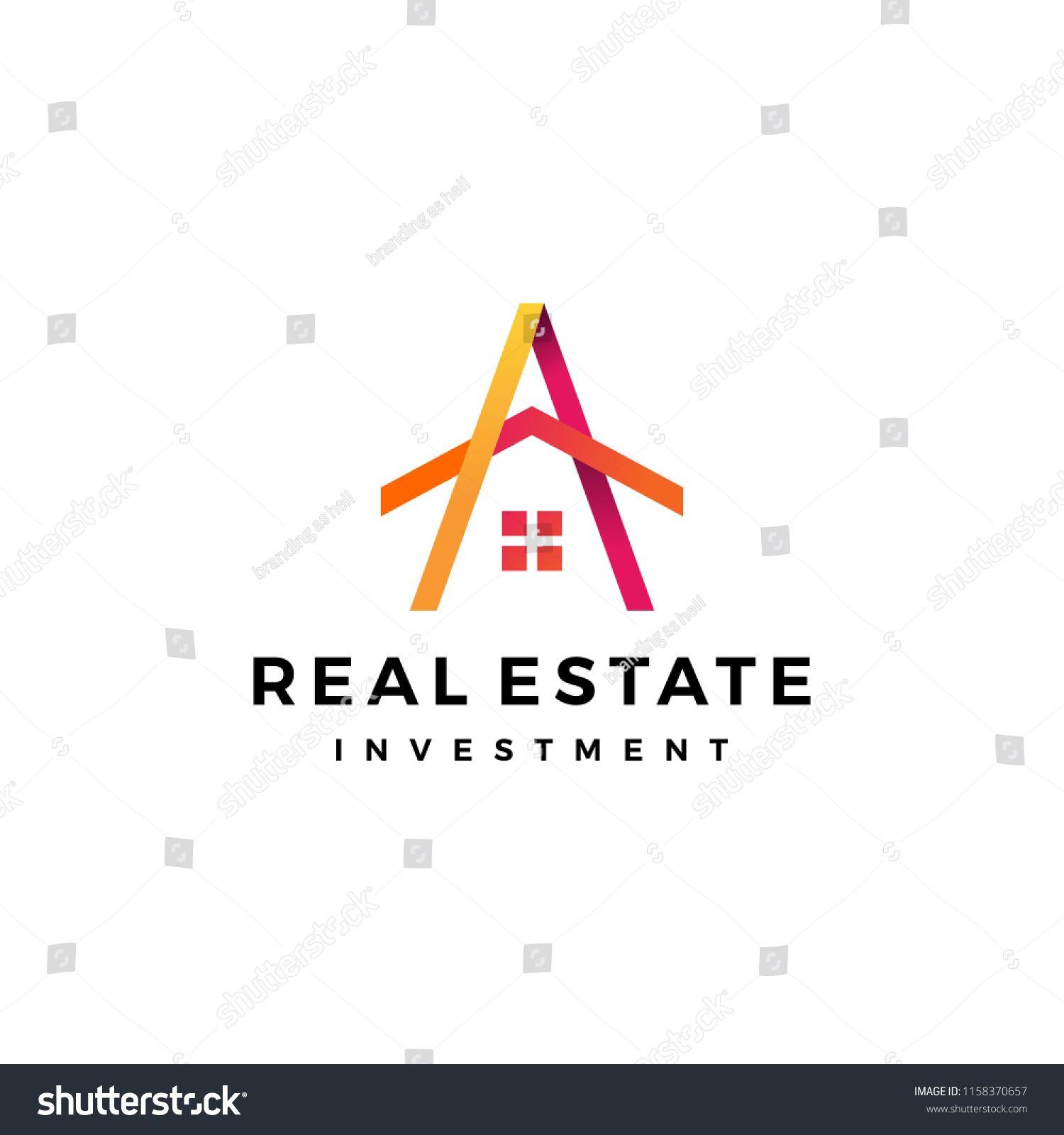 A Letter House Home Mortgage Real Estate Logo Vector Icon Logo