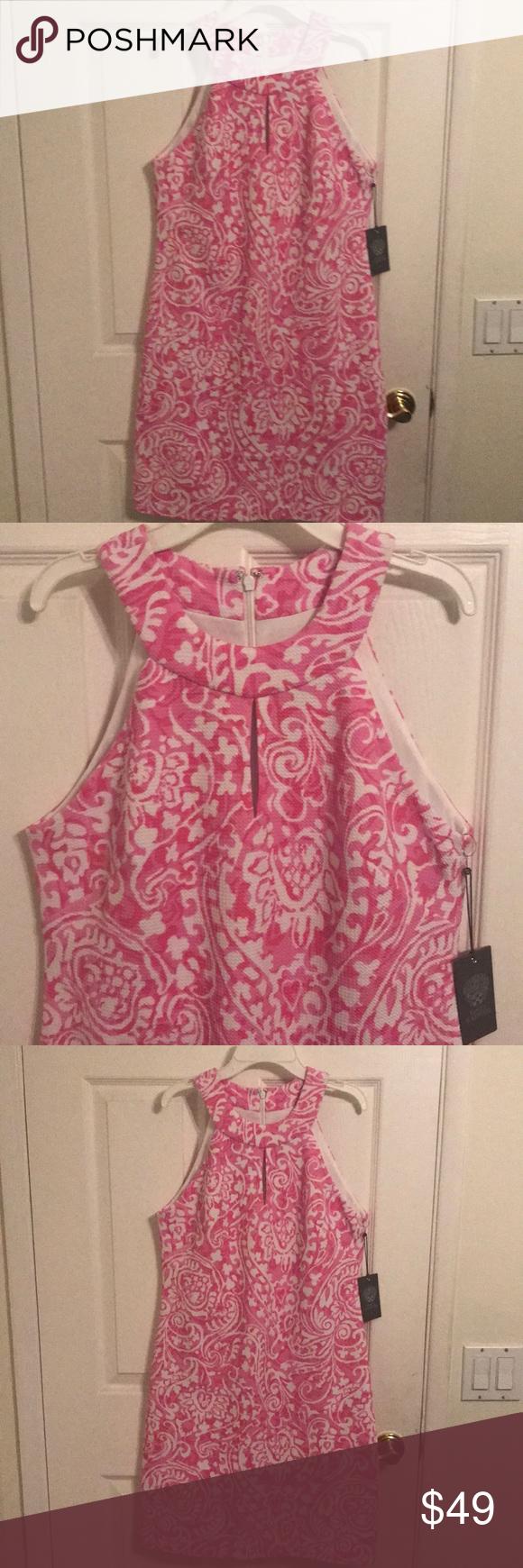 Sold Nwt Vince Camuto Halter Shift Dress 10 138 Shift Dress Dresses Vince Camuto [ 1740 x 580 Pixel ]