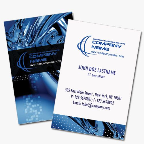 Computer business card template in high tech blue design projects computer business card template in high tech blue design friedricerecipe Choice Image