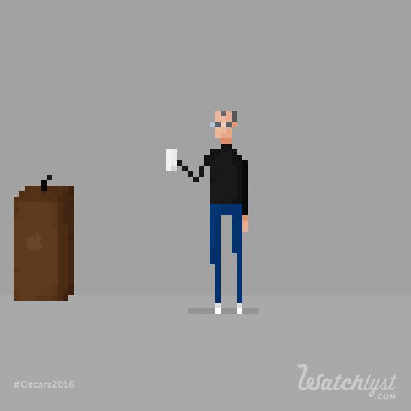 Steve Jobs Michaelfassbender Oscars Pixel Pixel Art Pixel Art