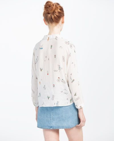 Image 5 of BOWS CROPPED SHIRT from Zara