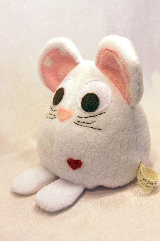 White Mouse - Stuffed Animal - White Stuffed Toy - Plushie - Stocking Stuffer. $18.00, via Etsy.