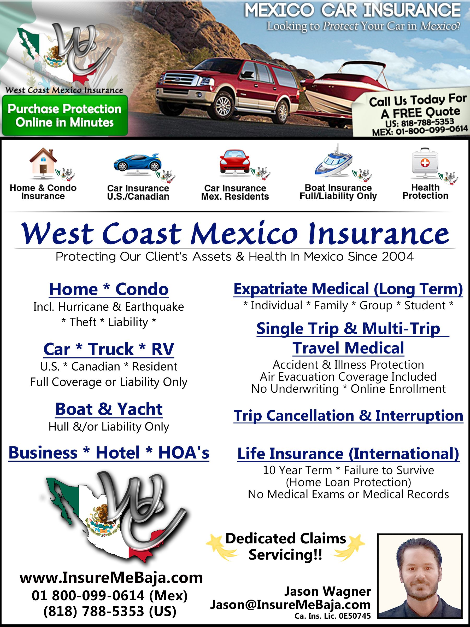 Free Quotes In Minutes For Mexico Auto Insurance U S Canadian