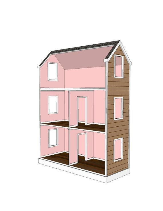 Doll House Plans For American Girl Or 18 Inch By
