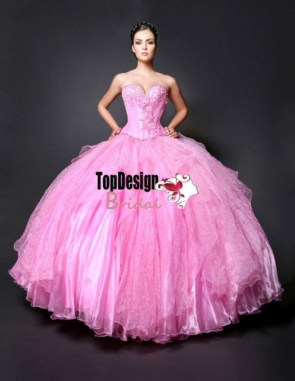 3635c3585 Wholesale new sweet 15 dress pink satin and tulle beaded quinceanera ...