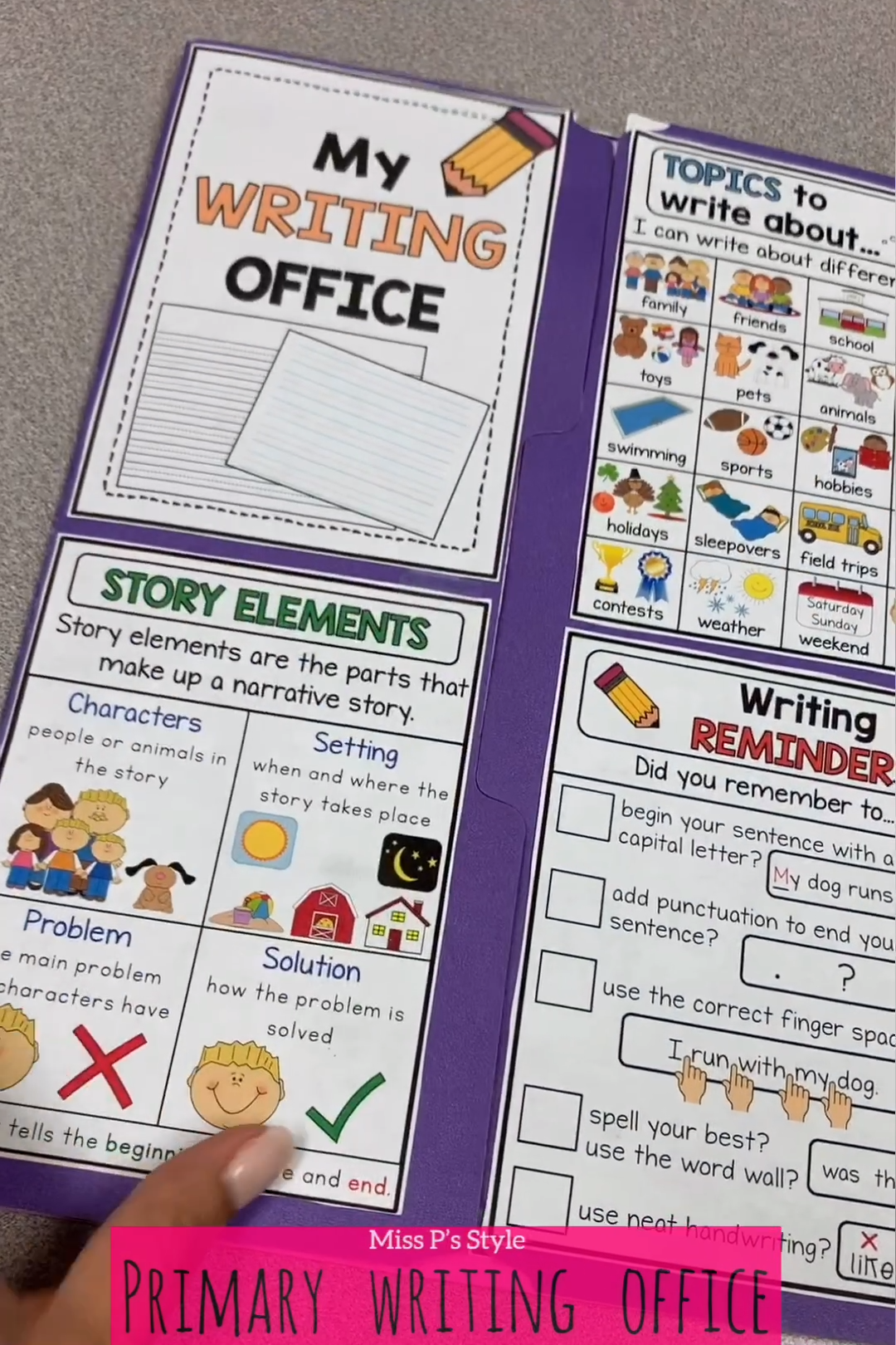 Primary Writing Office Distance Learning Video Video In 2020 Kindergarten Writing Activities Primary Writing Kindergarten Writing [ 1620 x 1080 Pixel ]