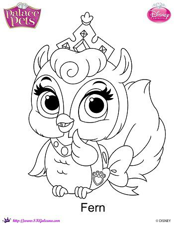 Disney princess palace pets coloring page of fern