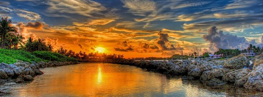 Beautiful Sunset - Facebook cover
