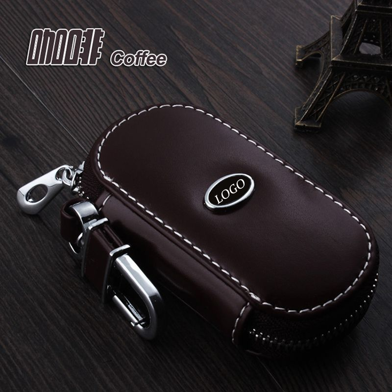 Genuine Leather Car Keychain Key Fob Case Cover For Jeep Cherokee