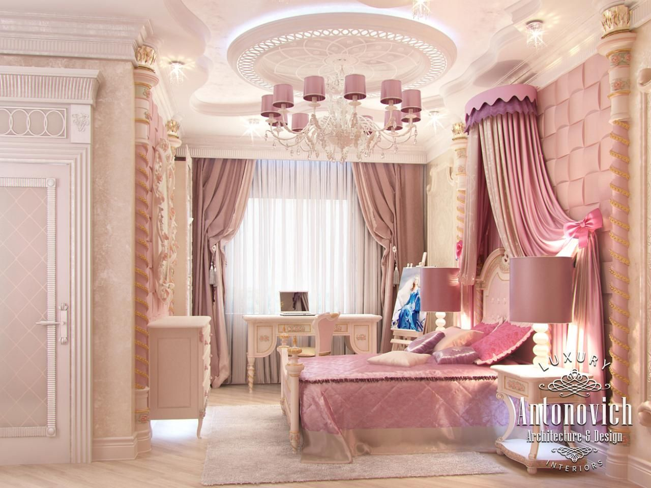 Girly Home Decor In Projects Of LUXURY ANTONOVICH DESIGN