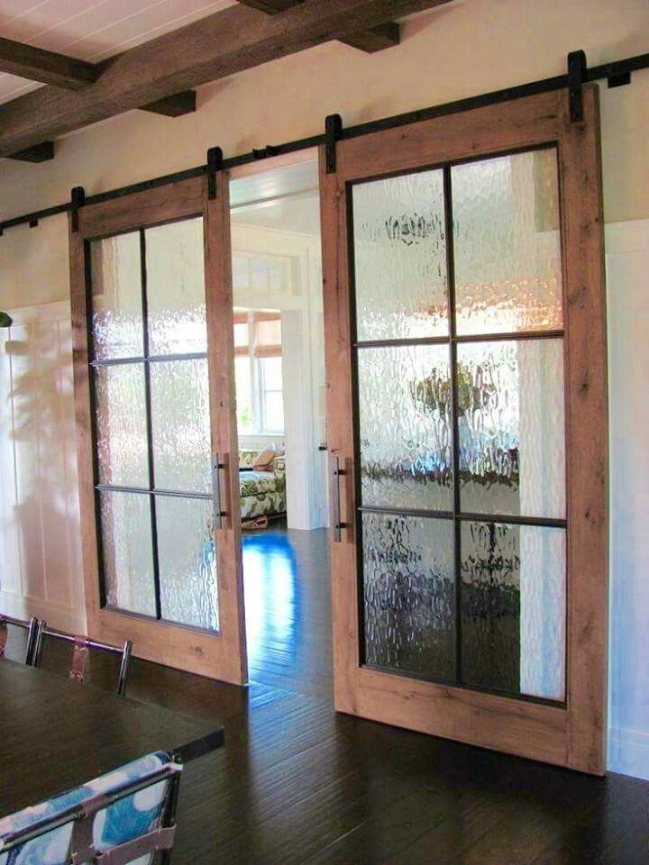 For the addition instead of french doors | Barn style doors, Home, House