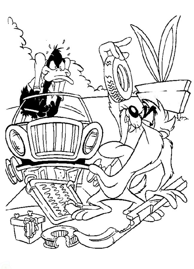 Tasmanian Devil The Destroyer Coloring Pages - Looney Tunes cartoon ...