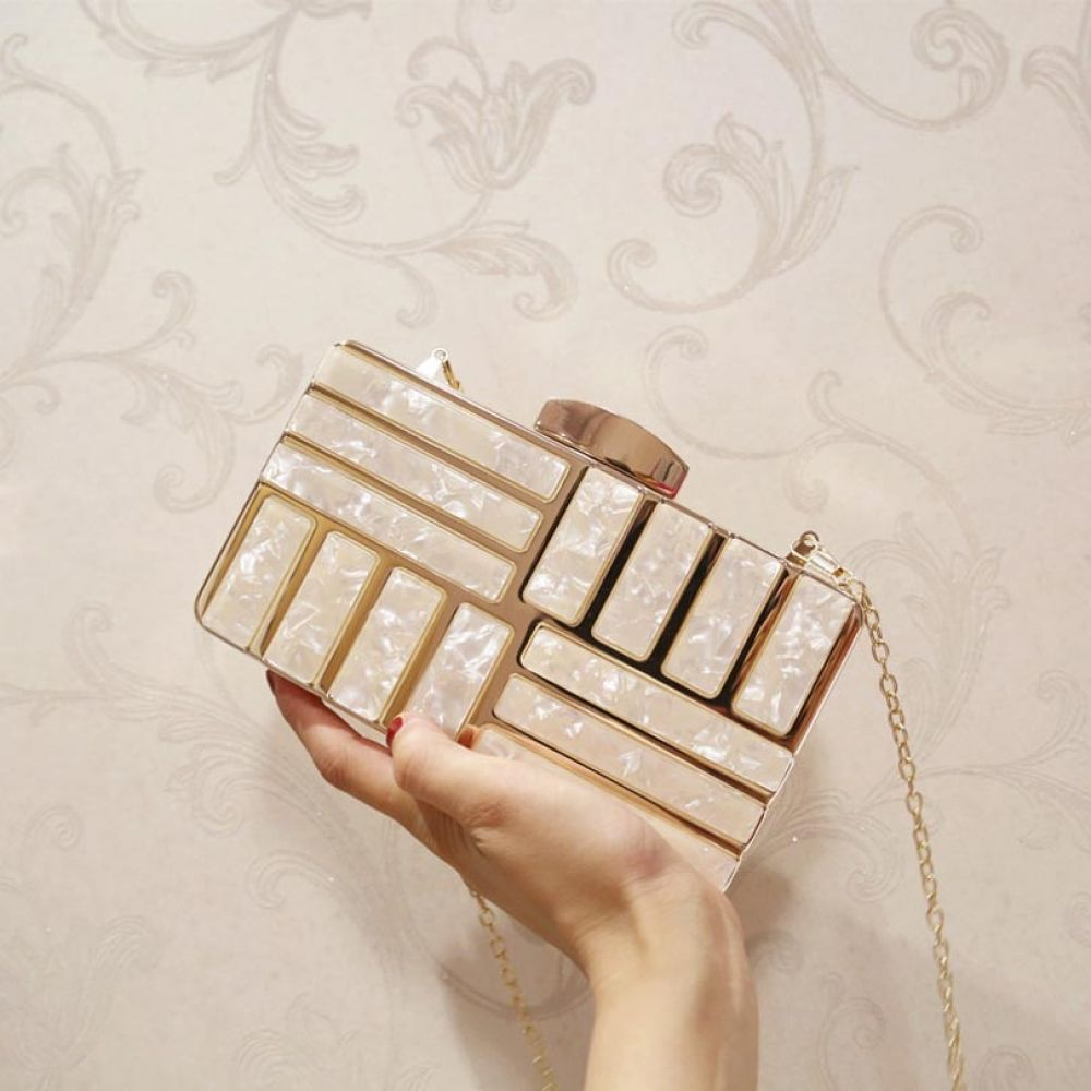 Luxury Brand Design Acrylic Decoration Clutches Women Evening Bags Party Wedding