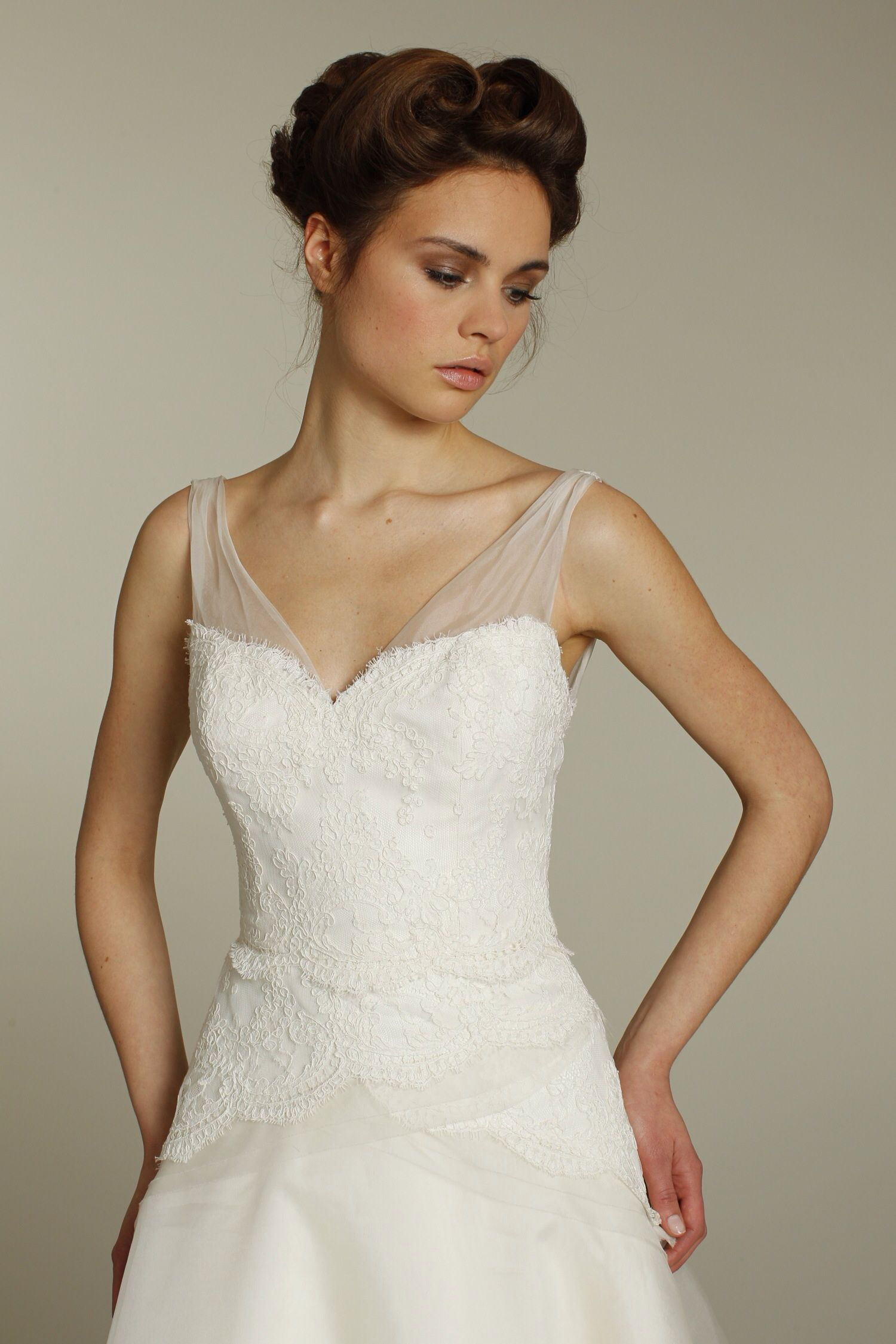 Has anyone added an illusion neckline to a strapless wedding dress