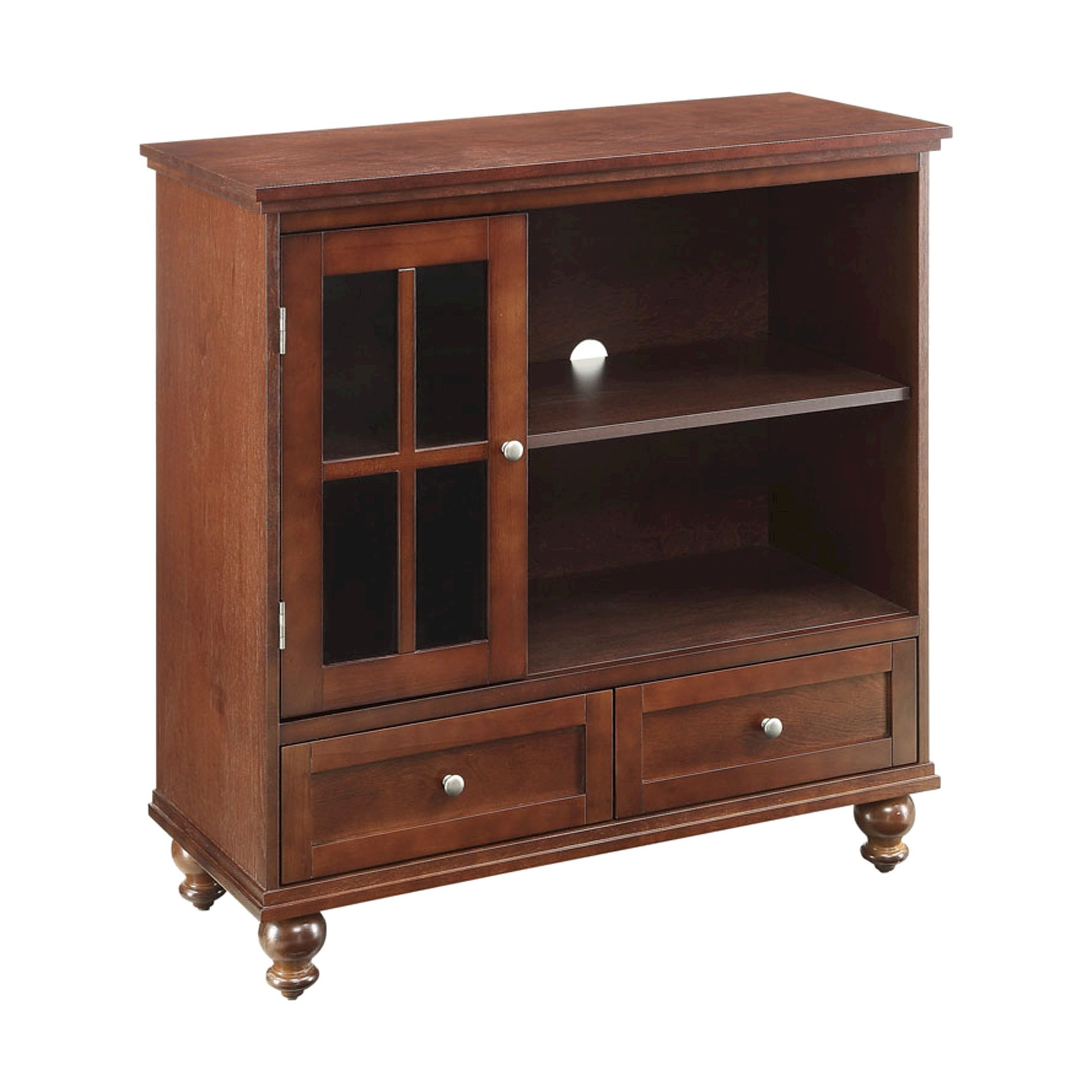 Tahoe Highboy TV Stand Brown 36 - Convenience Concepts