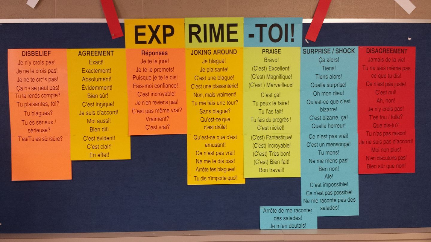Exprime Toi Expressions Utiles Affiche Pour La Salle De Classe Ifprofs Teaching French French Lessons French Expressions