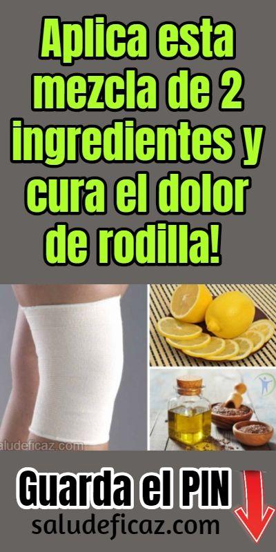 medicina natural para el dolor de rodillas