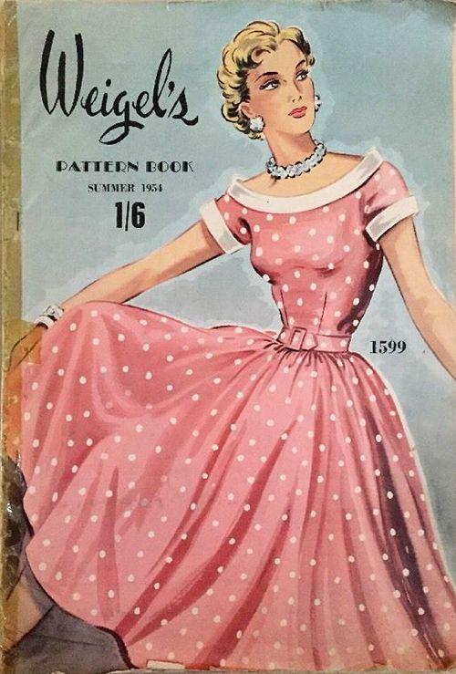 Weigel\'s Pattern Book Summer 1954 | Moda vintage, Vestiditos y Costura