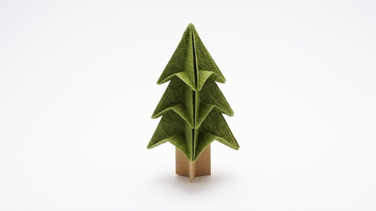 Easy Christmas Tree Origami Jo Nakashima Origami Christmas Tree Christmas Origami Origami Tree