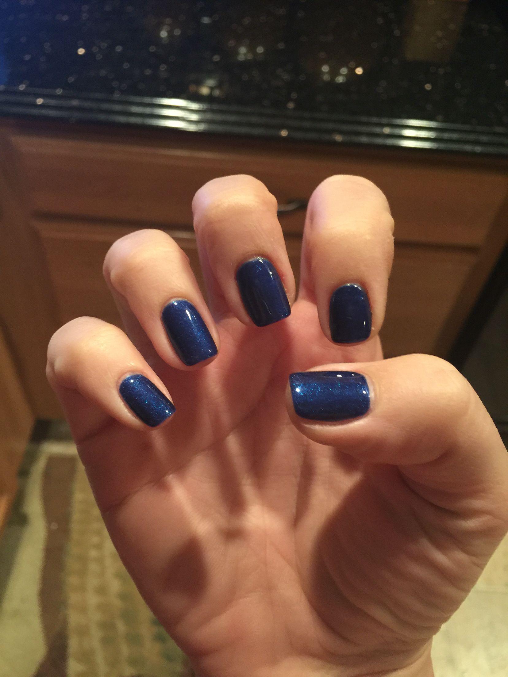 Winter Blue Nails Gel Real Navy