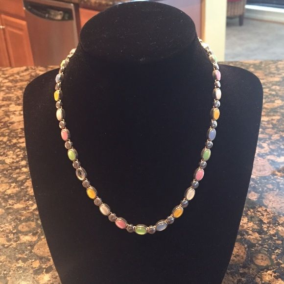 Necklace & Bracelet set! Multi colored necklace & bracelet set! Great condition! Worn only a few times! Nice for Spring/summer Premiere Designs  Jewelry Necklaces