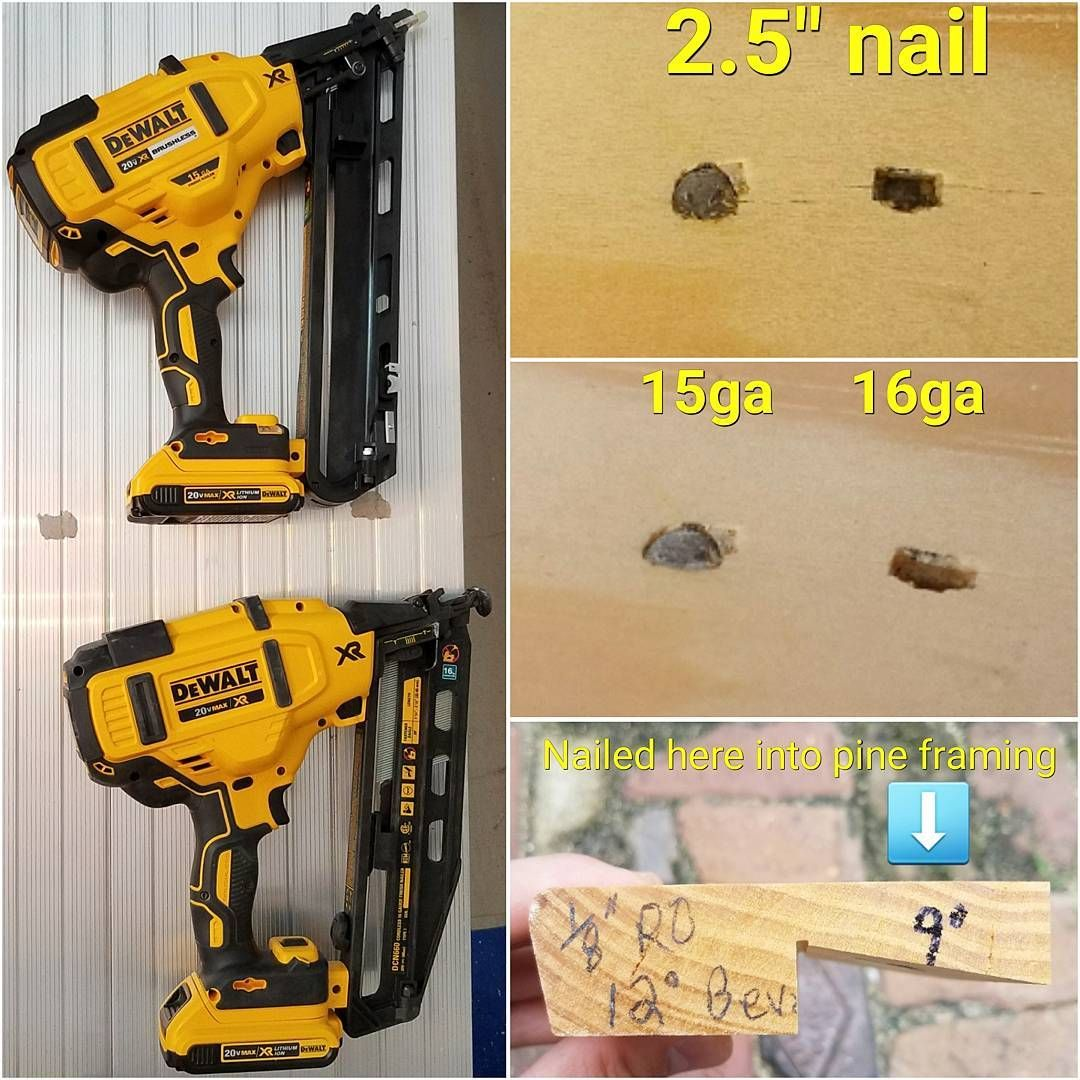 toolsbydesignComparing the New DeWalt DCN650 cordless 15ga nailer to ...