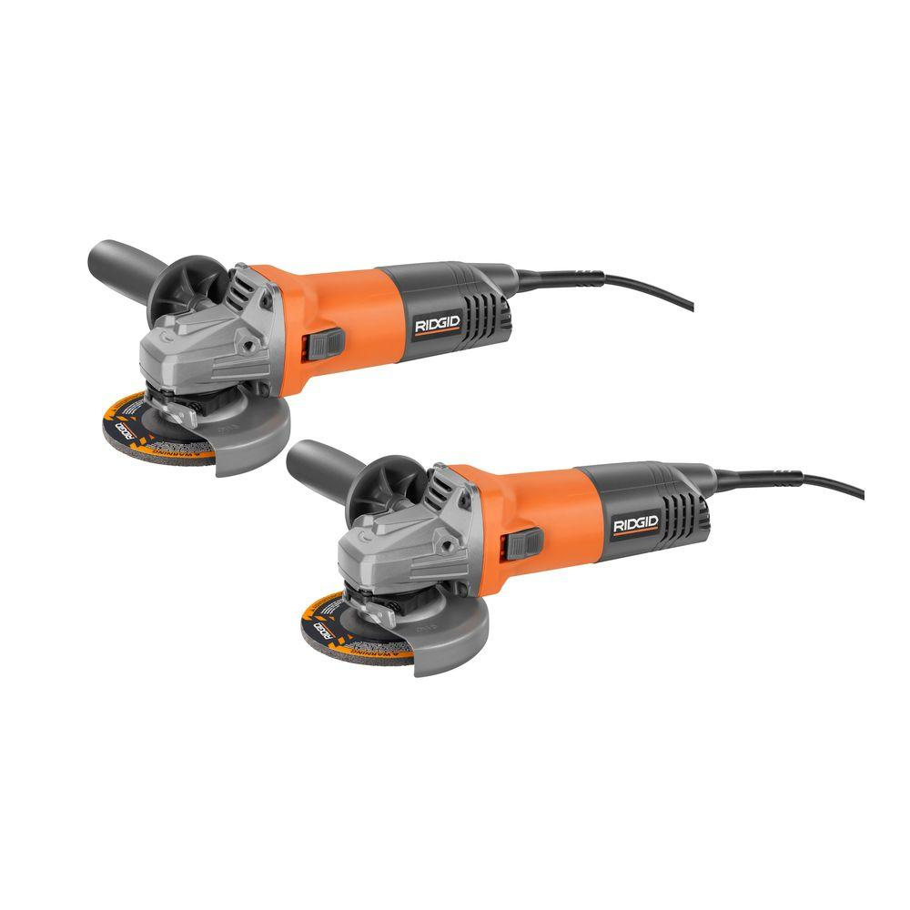 ridgid 4 1 2 in 8 amp angle grinder 2 pack r1007 the home depot [ 1000 x 1000 Pixel ]