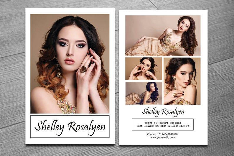 Model Comp Card Template Modeling Comp Card Ms Word Etsy In 2021 Model Comp Card Model Headshots Card Templates Free