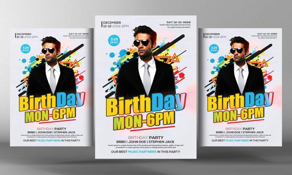 15+ Birthday Flyer Template PSD, Ai and Vector EPS Format Download - birthday flyer template