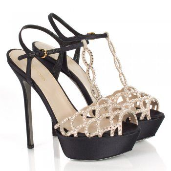 Sergio Rossi Nia Beige Crystal Embellished Sandals Now £298.00 SS2014 #Shoes #Heels