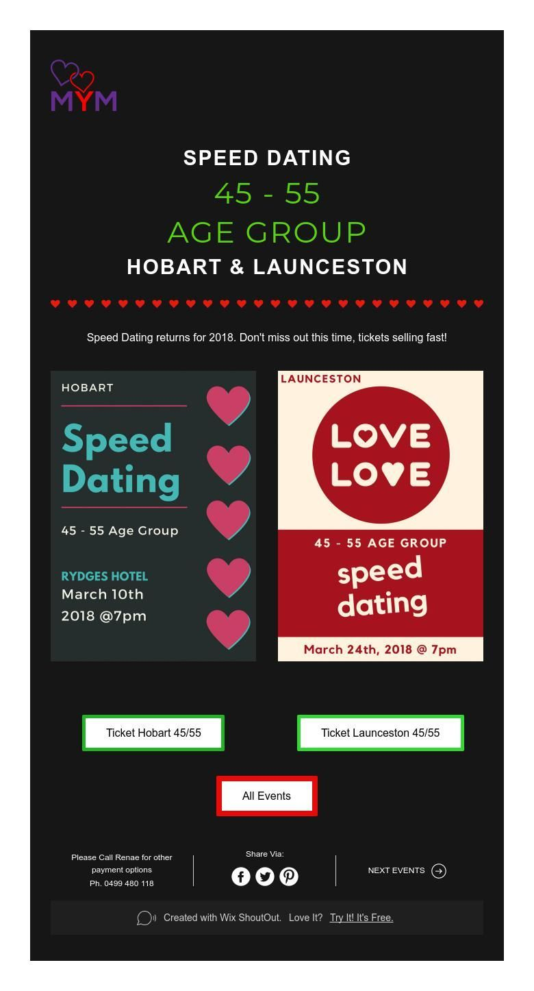 Hobart speed dating