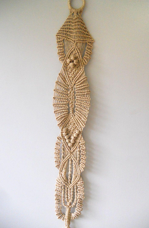 Macrame Wall Hanging Pin By Juliana Thrall On Weaving Pinterest Macrame Blanket