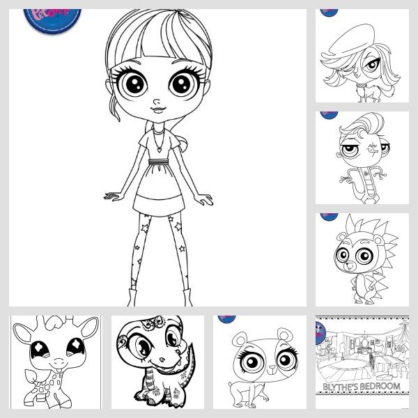 Littlest Pet Shop LPS Coloring Page RoundUp awesome collection