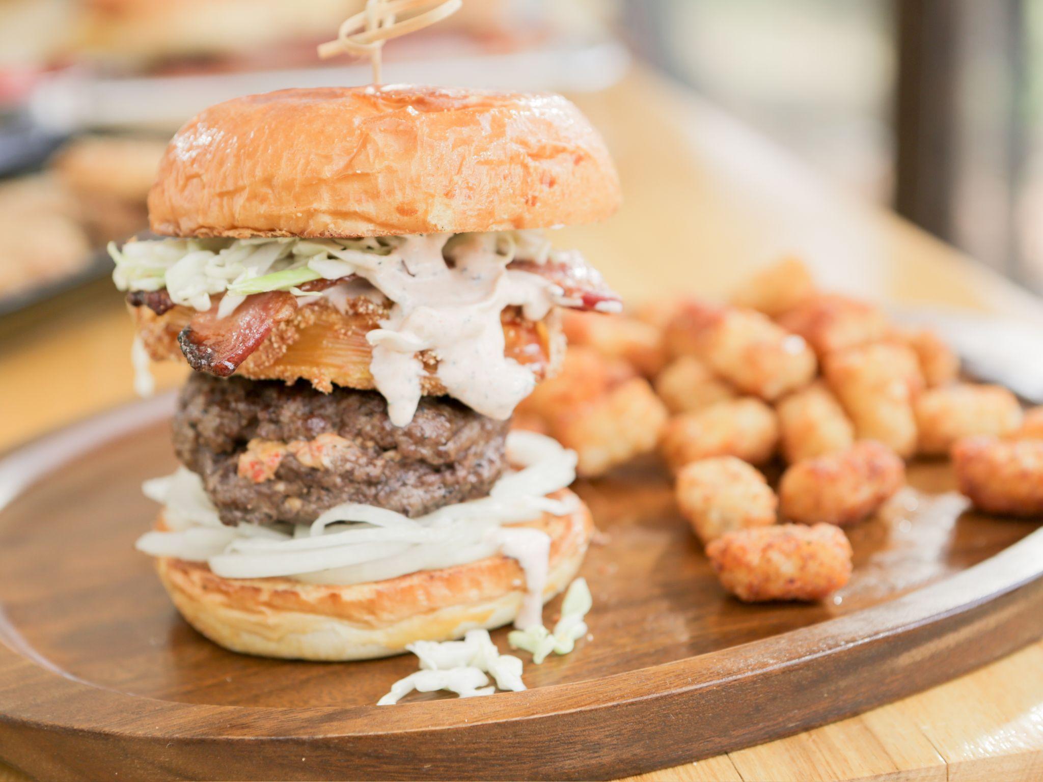 Pimento Cheese Stuffed Burger Recipe Food Network Recipes Burger Recipes Recipes